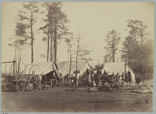 Headquarters Army of Potomac - Brandy Station, April 1864. Repair shops