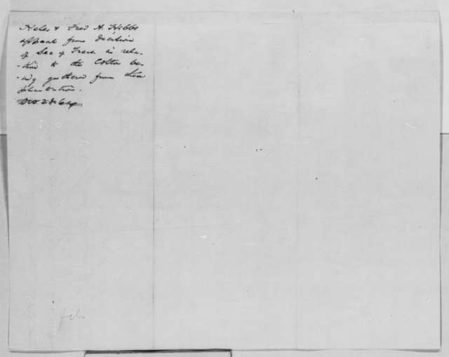 Helen Hobbs to Abraham Lincoln, Friday, October 28, 1864  (Seizure of cotton)