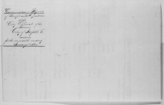 Henry C. Clark to Benjamin F. Butler, Wednesday, February 03, 1864  (Report of receipts and expenditures for city of Norfolk)