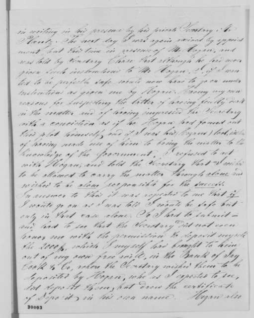 Henry C. De Ahna to Abraham Lincoln, Sunday, January 31, 1864  (Details of a Confederate plot and De Ahna's dealings with Secretary Chase)