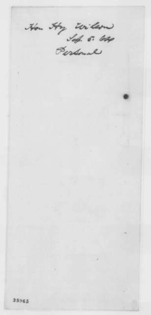 Henry Wilson to Abraham Lincoln, Monday, September 05, 1864  (Politics)