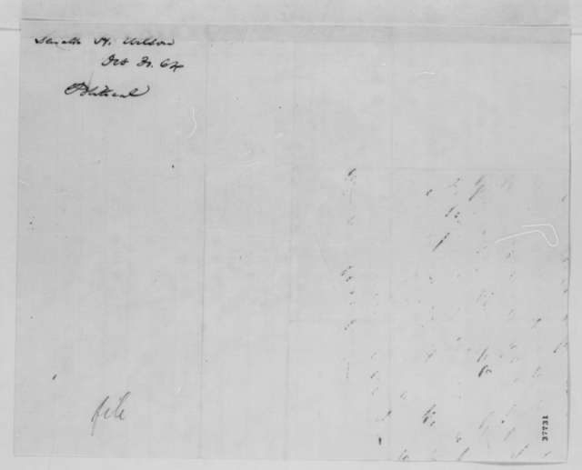 Henry Wilson to Abraham Lincoln, Sunday, October 30, 1864  (Political affairs in New York)