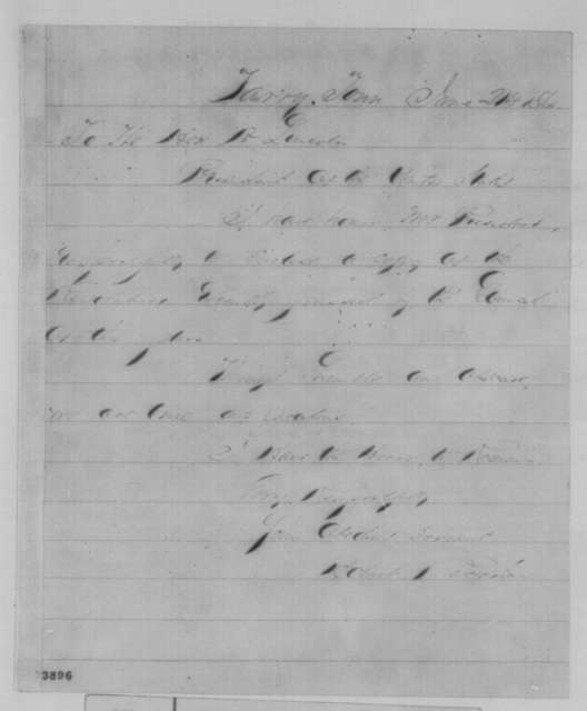 Hobart Berrian to Abraham Lincoln, Tuesday, June 21, 1864  (Sends resolutions)