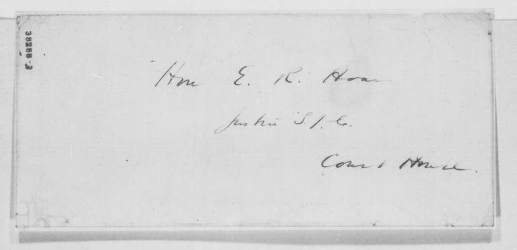 Horace Gray Jr. to E. R. Hoar, Monday, November 14, 1864  (Recommendation)