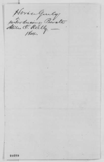 Horace Greeley to Abraham Lincoln, Monday, January 18, 1864  (Introduces Charles G. Halpine)