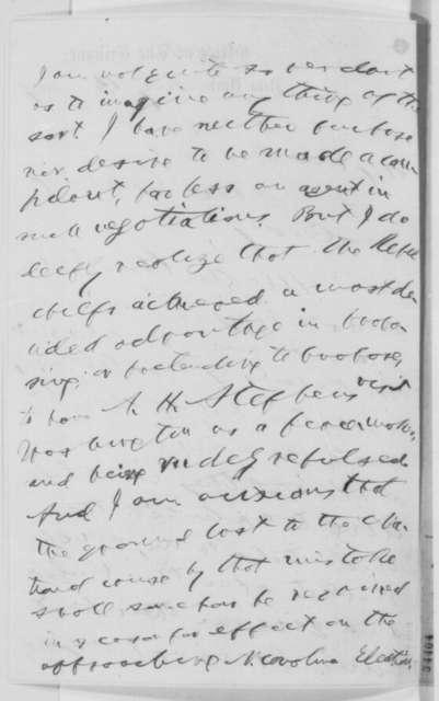 Horace Greeley to Abraham Lincoln, Sunday, July 10, 1864  (Negotiations at Niagara Falls)