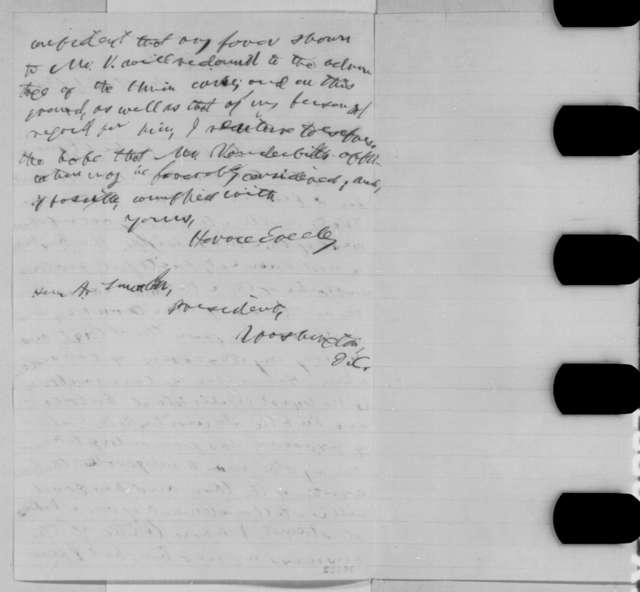 Horace Greeley to Abraham Lincoln, Wednesday, September 21, 1864  (Recommendation for Cornelius Vanderbilt, Jr.)