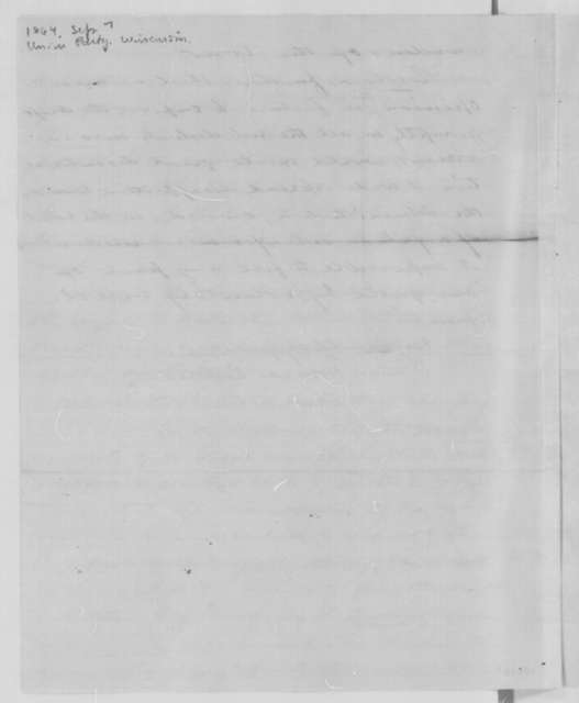 Horace Rublee to Abraham Lincoln, Wednesday, September 07, 1864  (Resolutions from Wisconsin Union State Committee)