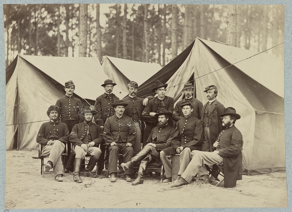 Hospital Stewards of 2d Division, 9th Army Corps. in front of Petersubrg, Va., November, 1864