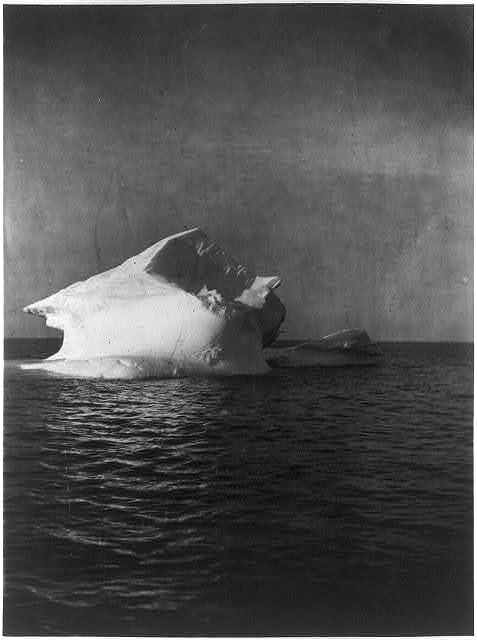 [Iceberg in the Atlantic Ocean, off the coast of Labrador]