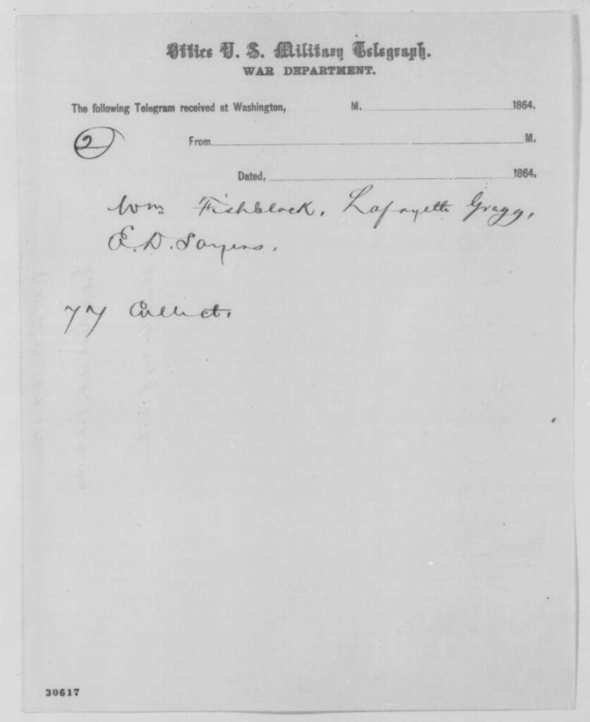 Isaac Murphy, et al. to Abraham Lincoln, Tuesday, February 16, 1864  (Telegram concerning Arkansas election)