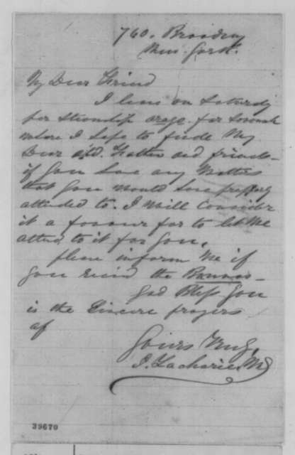 Isachar Zacharie to Abraham Lincoln, [December 1864]  (Plans to travel to Savannah)