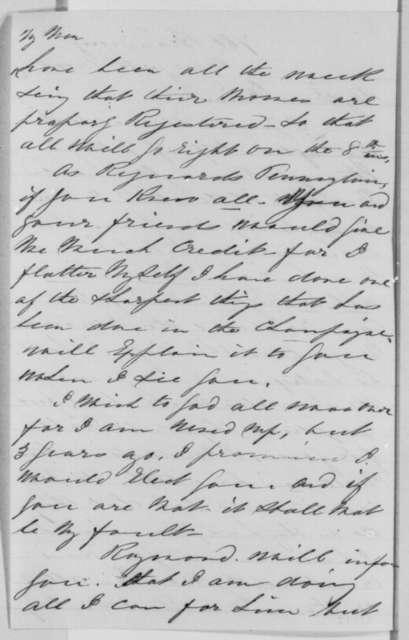 Isachar Zacharie to Abraham Lincoln, Thursday, November 03, 1864  (Political affairs)