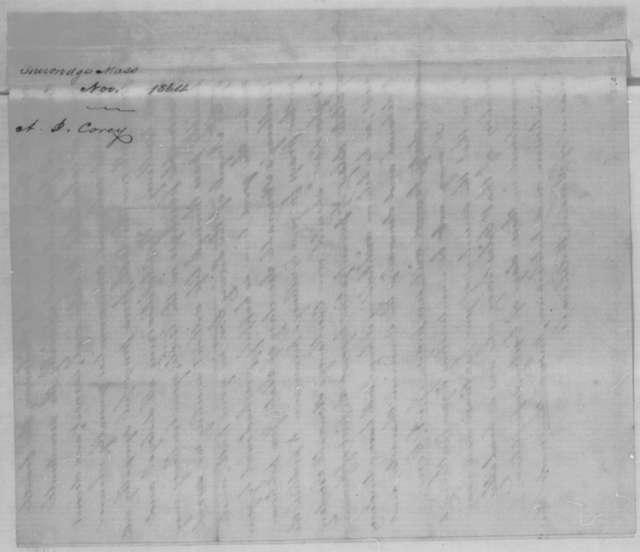 J. A. Corey to Abraham Lincoln, November 1864  (Political advice)