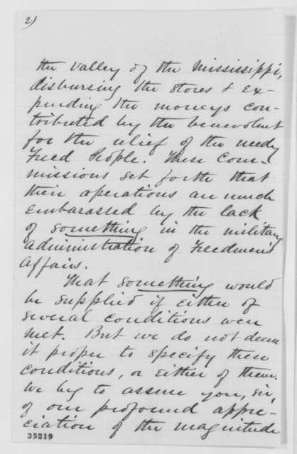 James Blake, et al. to Abraham Lincoln, Thursday, August 11, 1864  (Freedmen's affairs)