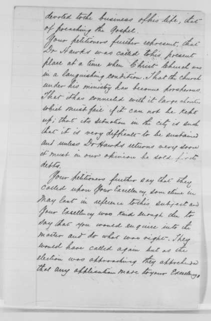 James Hall, et al. to Abraham Lincoln, May 1864  (Petition on behalf of Francis Hawks)