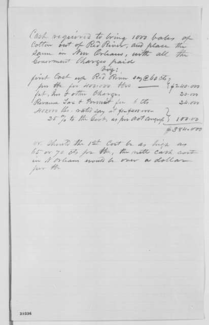 James Harrison to Abraham Lincoln, Saturday, December 17, 1864  (Plan to purchase cotton)