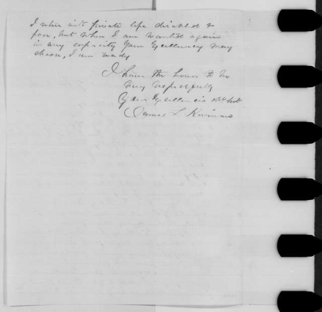 James L. Kiernan to Abraham Lincoln, Tuesday, June 28, 1864  (Reappointment as a brigadier general)