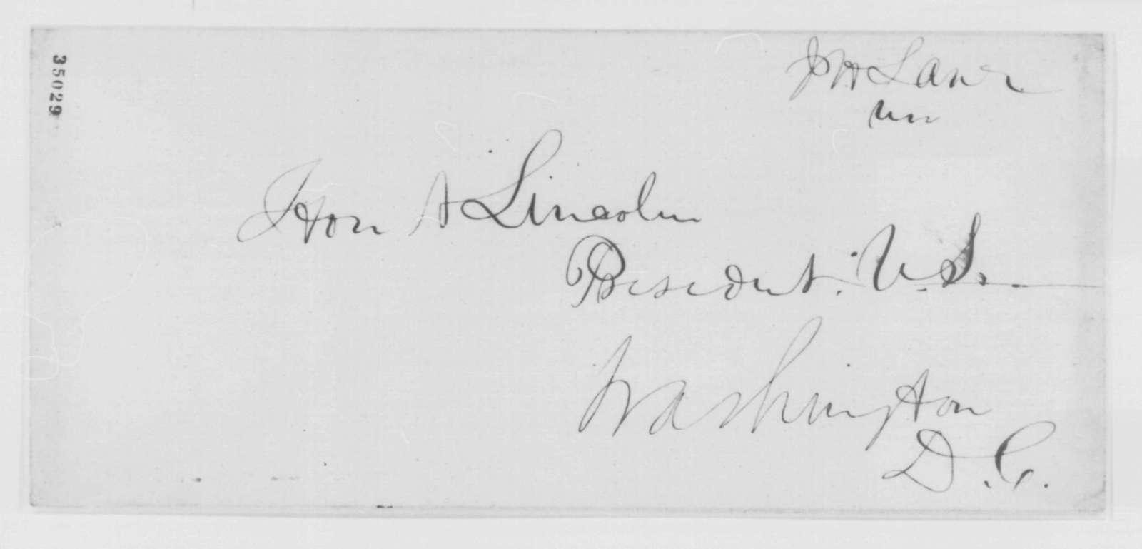 James M. Edmunds to John P. Usher, Wednesday, August 03, 1864  (Cover letter)
