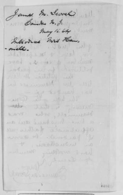James M. Scovel to Abraham Lincoln, Monday, May 16, 1864  (Introduction)