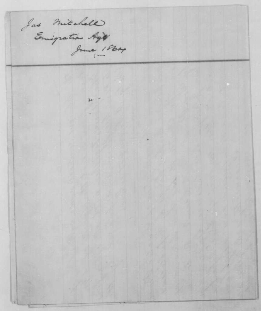 James Mitchell to Abraham Lincoln, June 1864  (Report on colonization)