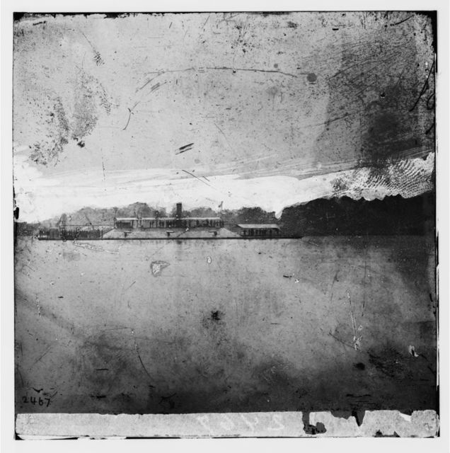James River, Virginia. Confederate Ram ATLANTA after her capture