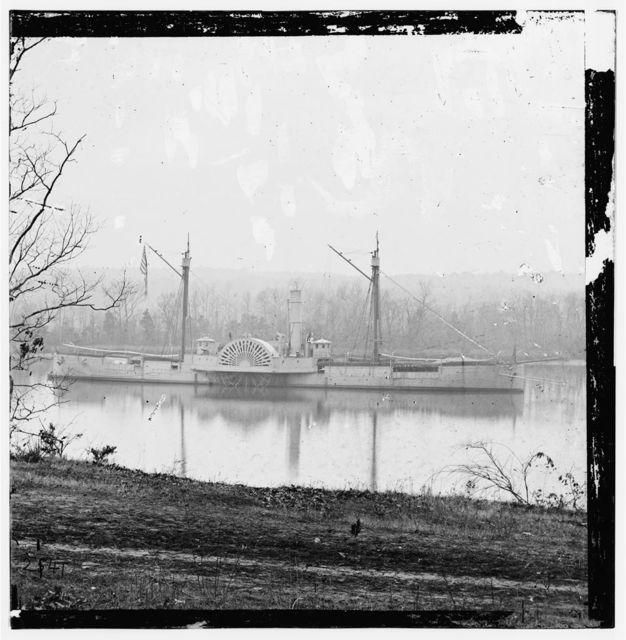James River, Virginia. Gunboat MENDOTA