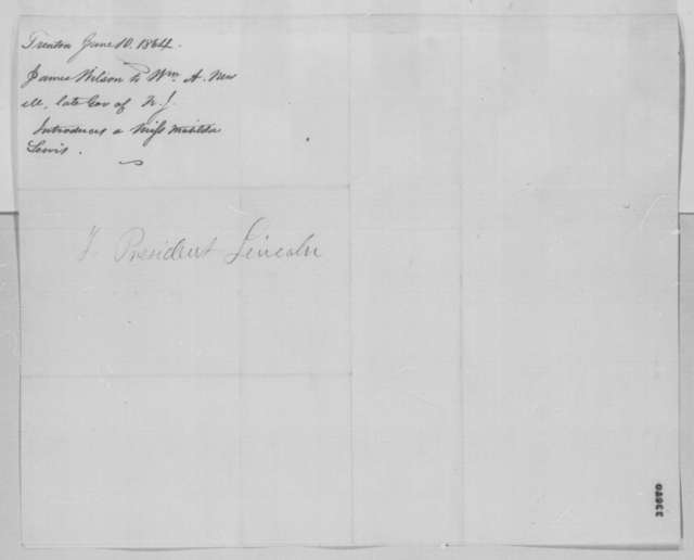 James Wilson to William A. Newell, Friday, June 10, 1864  (Introduction)