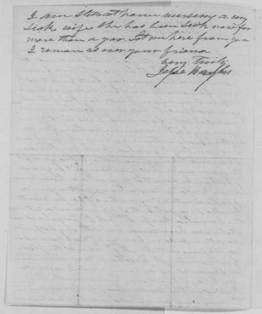 Jesse Baylis to Isaac Burch, Tuesday, March 22, 1864  (Personal)