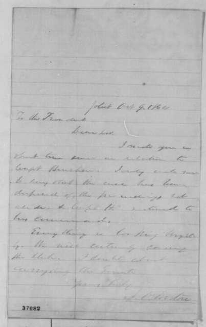 Jesse O. Norton to Abraham Lincoln, Sunday, October 09, 1864  (Case of Capt. Henshaw)