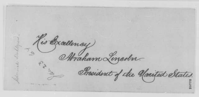 John A. Dahlgren to Abraham Lincoln, Saturday, January 23, 1864  (Captain Lavender's invention)
