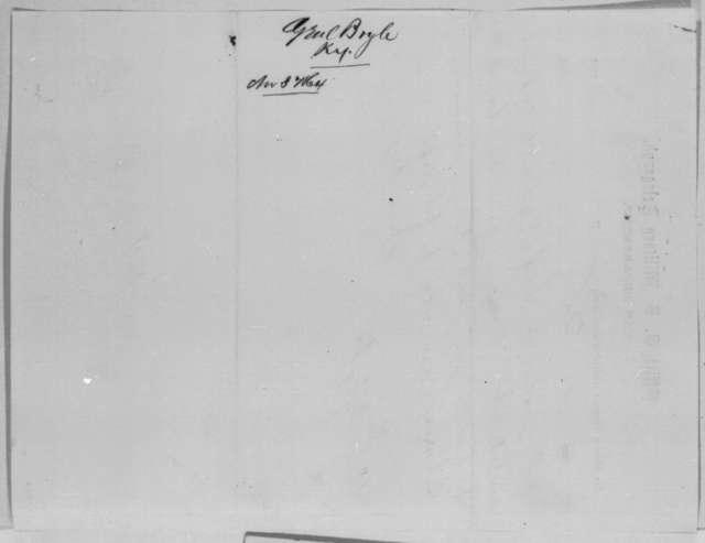John Boyle to Abraham Lincoln, Thursday, November 03, 1864  (Telegram concerning case of Robert W. Reed)
