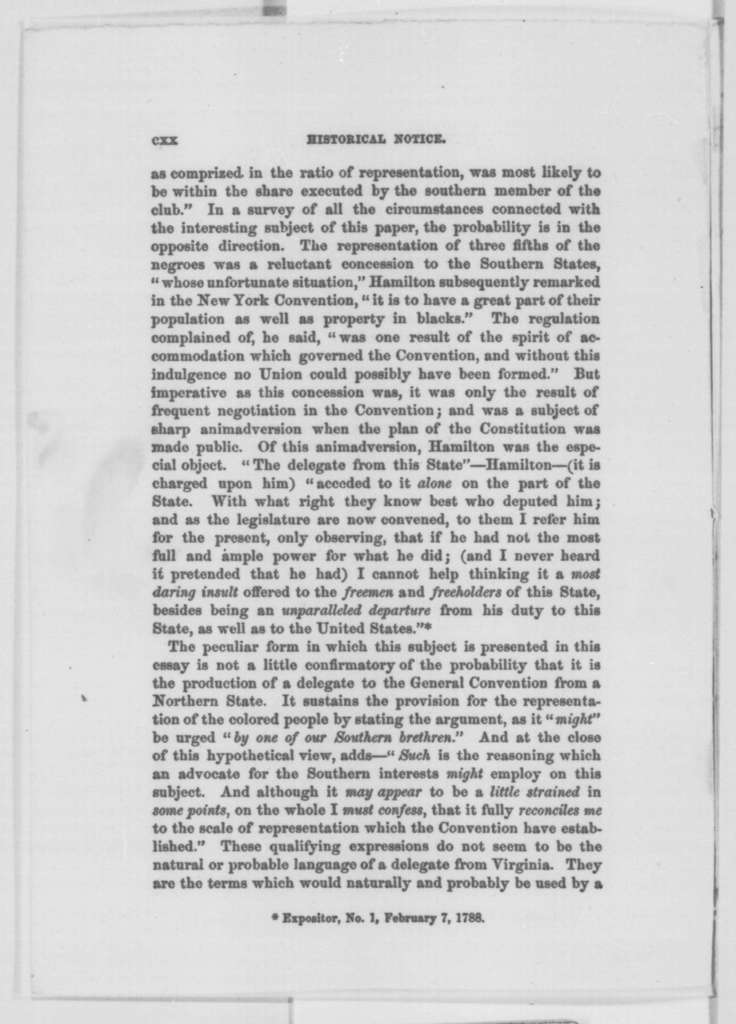 John C. Hamilton to Abraham Lincoln, Tuesday, November 29, 1864  (Federalist Papers and Emancipation Proclamation)
