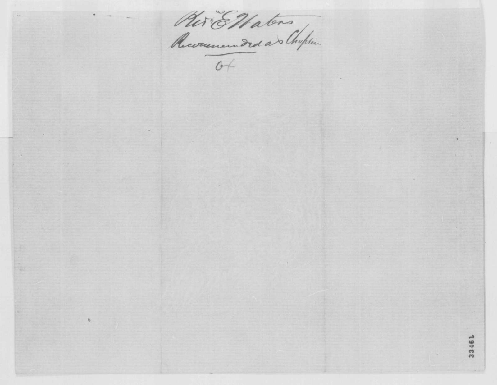 John F. Starr to Abraham Lincoln, Tuesday, May 31, 1864  (Introduction)