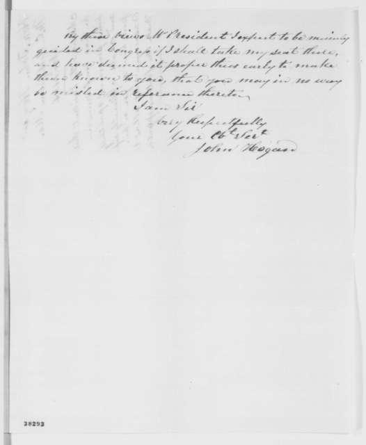 John Hogan to Abraham Lincoln, Monday, November 14, 1864  (Support)