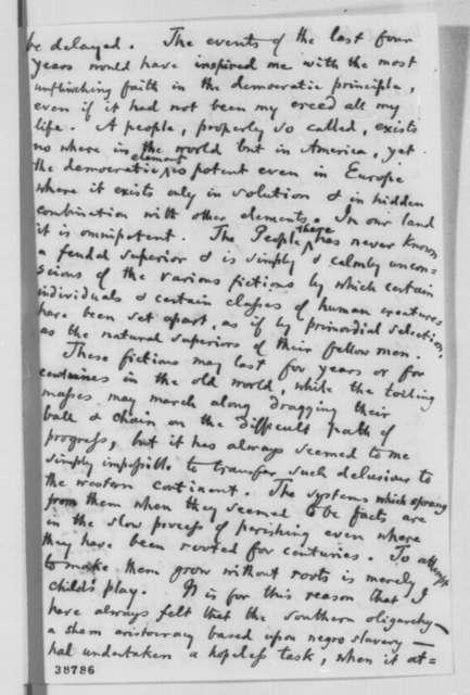 John Lothrop Motley to Abraham Lincoln, Monday, November 28, 1864  (Congratulations)