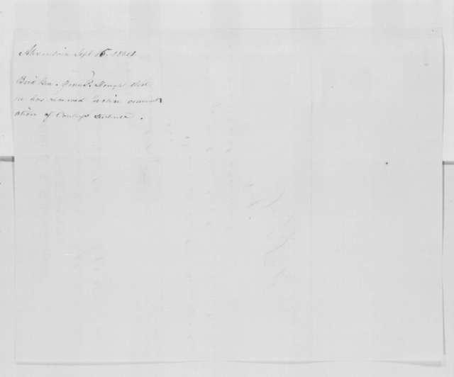 John P. Slough to Abraham Lincoln, Thursday, September 15, 1864  (Telegram concerning case of Edward Conley)
