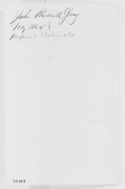 John R. Young to John G. Nicolay, Thursday, February 11, 1864  (Congressional resolution)