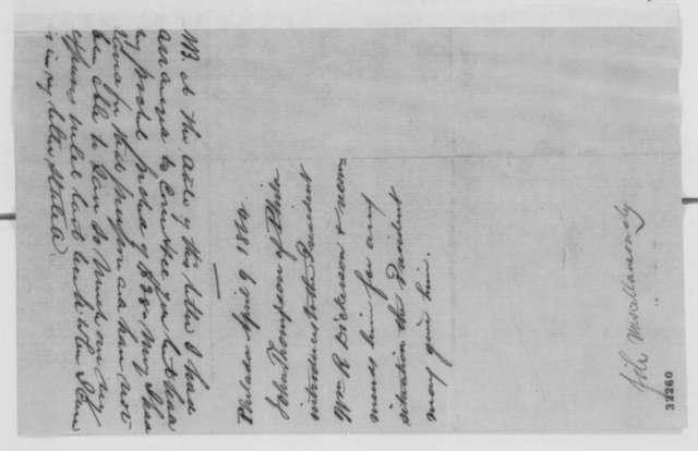 John Thompson to Abraham Lincoln, Saturday, April 09, 1864  (Introduction)