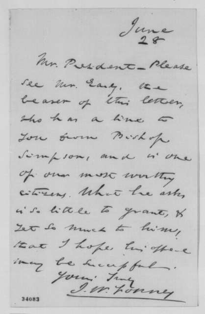 John W. Forney to Abraham Lincoln, June 28, 1864  (Introduction)