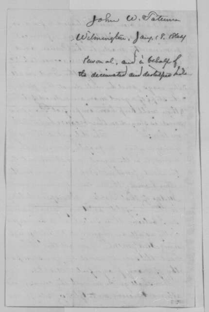John W. Tatum to Abraham Lincoln, Monday, January 18, 1864  (Support and appeal on behalf of American Indians)