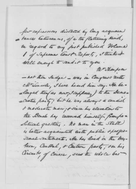 John W. Wallace to William Dennison, Monday, November 28, 1864  (Cover letter and recommendation for Chief Justice)