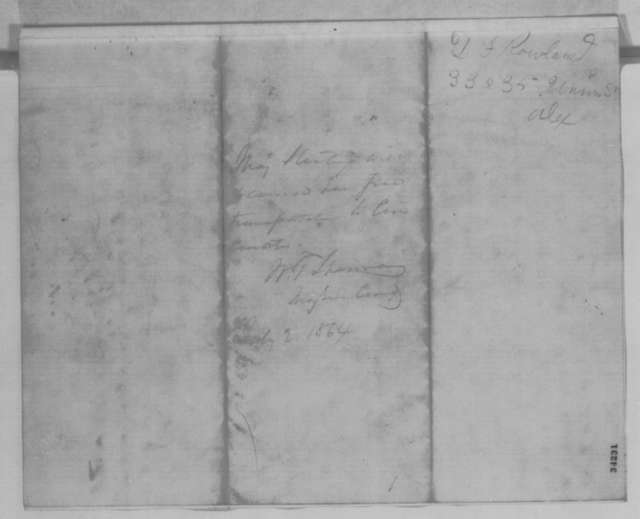 Joseph Hooker to William T. Sherman and Lorenzo Thomas, Saturday, July 02, 1864  (Introduction; endorsed by Sherman)