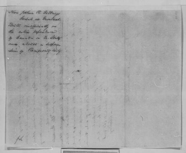 Joshua R. Giddings to Abraham Lincoln, Friday, May 13, 1864  (Relations with Canada)