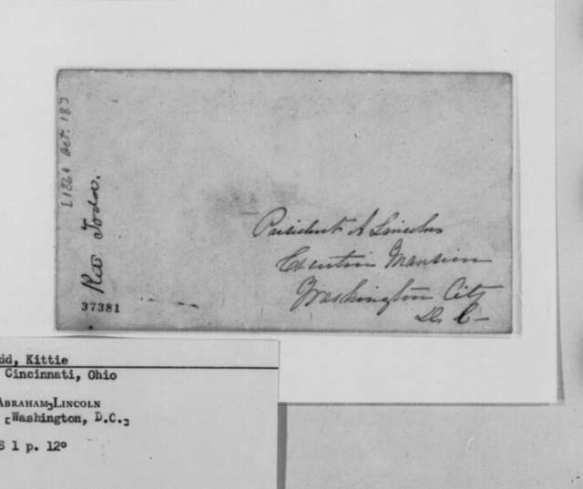 Katherine Todd to Abraham Lincoln, Tuesday, October 18, 1864  (Requests exchange of General William Beall)
