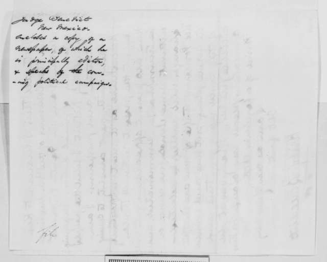 Kirby Benedict to Abraham Lincoln, Thursday, April 14, 1864  (Affairs in New Mexico)
