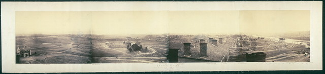 Knoxville, Tenn., from the cupola of University of East Tennessee, March 1864