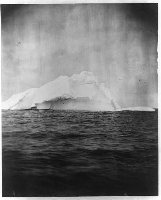 [Large iceberg in the Atlantic Ocean, off the coast of Labrador]