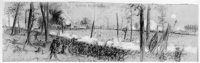 Last fight of the Pennsylvania Reserves before the expiration of their term of service