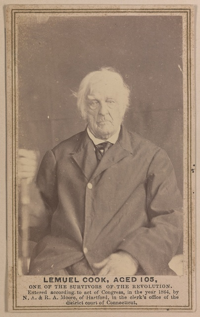 Lemuel Cook, aged 105, one of the survivors of the Revolution